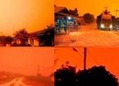 Bầu trời chuyển màu đỏ như máu giữa ban ngày ở Indonesia