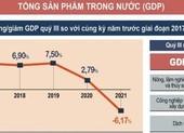 Mức tăng trưởng GDP quý III là âm 6,17%