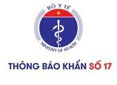 Thông báo khẩn số 17 của Bộ Y tế tối 28-7