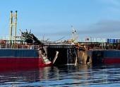 Nổ tàu chở dầu trên vùng biển Quảng Ngãi