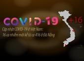 Cập nhật COVID-19: 16 ca nhiễm mới kể từ ca 416 ở Đà Nẵng