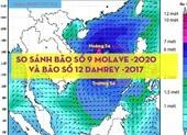 So sánh bão số 9 - Molave và bão số 12 -Damrey năm 2017