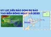 Uy lực siêu bão Goni dự báo vào Biển Đông ngày 2-11