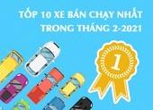 Tốp 10 xe bán chạy nhất trong tháng 2-2021