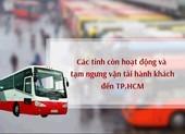 Chi tiết các tỉnh còn hoạt động và tạm ngưng vận tải hành khách đến TP.HCM