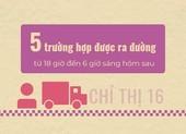 Infographic: Từ 26-7, những trường hợp nào được hoạt động sau 18 giờ ở TP.HCM?