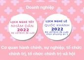 Đề xuất lịch nghỉ tết Nhâm Dần và nghỉ lễ Quốc khánh 2022