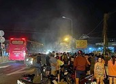 Va chạm giao thông, xe máy bốc cháy, một người tử vong