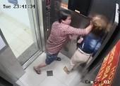 Camera ghi cảnh 1 phụ nữ bị đánh trong thang máy ở Tân Phú