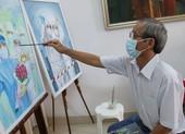 Họa sĩ già 'tiếp lửa' cho các y bác sĩ tuyến đầu chống dịch