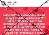 Cục PTTH&TT điện tử mời chủ tài khoản Lê Văn Thiệp làm việc