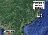 Xảy ra động đất gần bãi thử hạt nhân Punggyeri của Triều Tiên