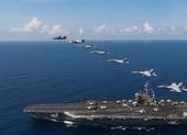 Mỹ đưa hai tàu sân bay, nhiều tàu chiến vào Biển Đông tập trận