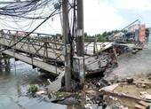 Cần Thơ: Đường tỉnh 918 bị chia cắt vì cầu Rạch Cam sạt bờ