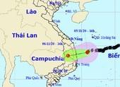 Áp thấp vào Quảng Ngãi - Phú Yên gây mưa to