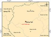 Động đất liên tiếp tại Quảng Ngãi