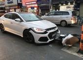 Quận Bình Thạnh: Tai nạn liên hoàn trên đường Bạch Đằng