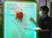 Bán đấu giá bản đồ Việt Nam làm từ 1500 nút test COVID-19