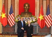 Lễ đón Tổng thống Mỹ Donald Trump tại Phủ Chủ tịch