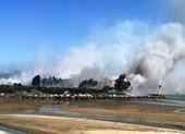 Đường lên bán đảo Sơn Trà bị phong tỏa vì hỏa hoạn