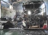 Cháy garage, 5 chiếc ô tô bị thiêu rụi