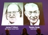 2 tác giả nghiên cứu điều trị ung thư nhận Nobel y học 2018