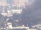 Trực thăng quân sự Nhật rơi vào khu dân cư