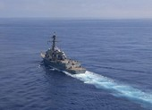 Tàu khu trục Mỹ xuất hiện ngoài bờ biển Thượng Hải