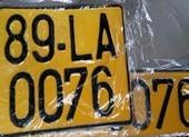 Ô tô kinh doanh vận tải phải có biển số nền màu vàng