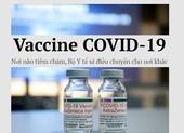 Vaccine COVID-19: Nơi nào tiêm chậm Bộ Y tế sẽ điều chuyển cho nơi khác