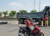 Hai người phụ nữ đi xe máy va chạm xe ben, một người bị cán