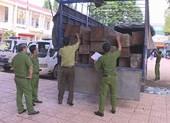 Phát hiện xe tải chở 31 hộp gỗ lậu trong đêm