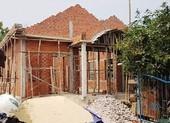 Sập giàn giáo nhà đang xây, 1 người chết
