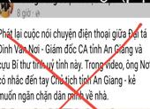 Giám đốc Công an An Giang nói về đoạn ghi âm lan truyền trên mạng