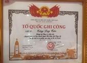 Công nhận liệt sĩ đối với Trung úy công an Tống Duy Tân