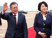 Lãnh đạo Hàn - Triều cùng thăm đỉnh núi thiêng
