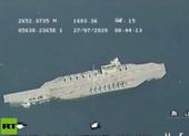 Video: Iran tập trận phóng tên lửa, vây mô hình tàu sân bay Mỹ