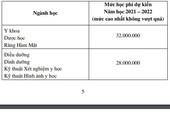 Học phí ĐH Y khoa Phạm Ngọc Thạch cao nhất lên 32 triệu đồng
