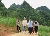 Hoa hậu Lương Thùy Linh khánh thành con đường tại Lũng Lìu