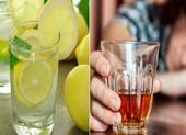 Nước chanh có giúp giải rượu nhanh chóng?