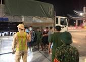 4 người trốn trong thùng xe chở heo để thông chốt kiểm dịch
