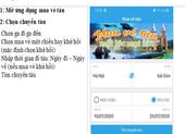 Từ ngày 15-7, triển khai bán vé tàu qua app điện thoại