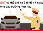 CSGT có thể giữ xe ô tô đến 7 ngày trong các trường hợp này
