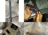 Bắt giữ bảo vệ bệnh viện tàng trữ súng, đạn, kiếm...