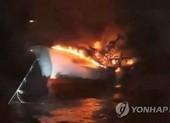 6 thuyền viên Việt Nam mất tích trong vụ cháy tàu ở Hàn Quốc