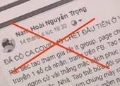 Bị khởi tố vì đăng tin không đúng sự thật về COVID-19