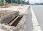 Bến Tre: Nhiều tấm vỉ gang đậy hố thu nước mặt đường bị trộm cắp