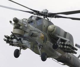 Máy bay quân sự Nga Mi-28 rơi, bị phá hủy hoàn toàn