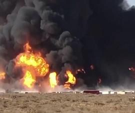 500 phương tiện bốc cháy ngùn ngụt sau khi xe bồn phát nổ