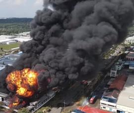 Đám cháy trong KCN ở Đồng Nai đã được khống chế, nhà máy bị thiêu rụi